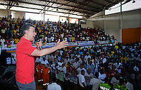 Colombia. 31 May 2014. The President of Colombia and candidate, Juan Manuel Santos delivers a speech at the Coliseum District in Buenaventura. Photo by SANTOS Campaign/Daniel Munoz / VIEWpress TO EDITORS : THIS PICTURE WAS PROVIDED BY A THIRD PARTY.  THIS PICTURE IS DISTRIBUTED EXACTLY AS RECEIVED BY VIEWpress, AS A SERVICE TO CLIENTS