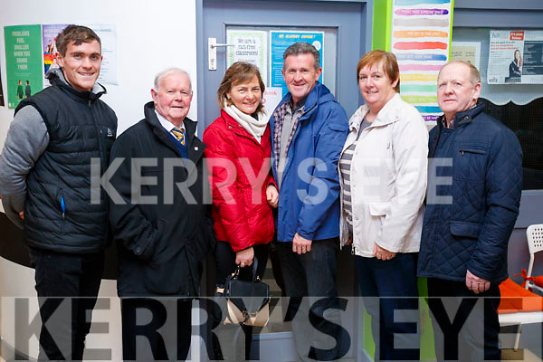 Conor, Derry, Catherine and Sean O'Mahony with Nora and Pat Fitzgerald, pictured at St. John's Parish Bazaar, held at the KDYS, Tralee on Saturday night last.