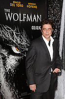 US actor/cast member Benicio Del Toro arrives at the US/LA premiere of 'The Wolfman' in Los Angeles, California 09 February 2010. Upon his return to his ancestral homeland, an American man (Del Toro) is bitten, and subsequently cursed by, a werewolf..Photo by Nina Prommer/Milestone Photo