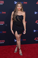 """LOS ANGELES - AUG 13:  Jordyn Woods at the """"47 Meters Down: Uncaged"""" Los Angeles Premiere at the Village Theater on August 13, 2019 in Westwood, CA"""
