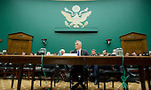 """Michael Horn, President and CEO of Volkswagen Group of America, testifies before the United States House Energy and Commerce Committee's Oversight and Investigations Subcommittee on """"Volkswagen's Emissions Cheating Allegations: Initial Questions"""" on Capitol Hill in Washington, DC on Thursday, October 8, 2015.<br /> Credit: Ron Sachs / CNP"""