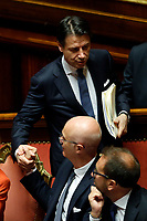 Giuseppe Conte and Federico D'Inca' <br /> Rome September 10th 2019. Senate. Discussion and Trust vote at the new Government. <br /> Foto  Samantha Zucchi Insidefoto