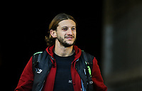 Adam Lallana of Liverpool  arrives ahead of the Premier League match between Swansea City and Liverpool at the Liberty Stadium, Swansea, Wales on 22 January 2018. Photo by Mark Hawkins / PRiME Media Images.