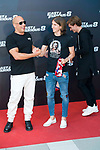 American actor Vin Diesel with Atletico de Madrid's player Antoine Griezmann and Filipe Luis during the presentation of the film &quot;Fast &amp; Furious 8&quot; at Hotel Villa Magna in Madrid, April 06, 2017. Spain.<br /> (ALTERPHOTOS/BorjaB.Hojas)