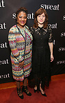 "Lynn Nottage and Kate Whoriskey attend the after party for the Broadway Opening Night of ""Sweat"" at Brasserie 8 1/2 on March 26, 2017 in New York City."