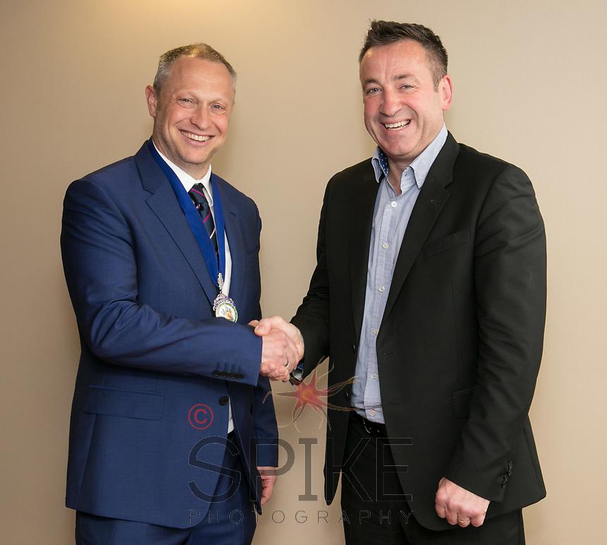 NCBC  President Mark Deakin and Nottingham Post Editor Mike Sassi