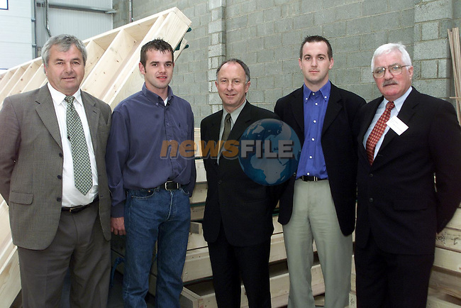 Minister Dermot Ahern with Tommy, Niall and Thomas Jnr Keenan of KTF Housing and Jim Malone, director Ardee Community Development at the official opening of Ardee Business Park..Picture Paul Mohan Newsfile