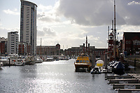 Pictured: The police scene at Swansea Marina, Wales, UK. Thursday 14 September 2017<br />
