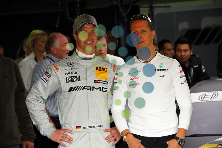 DTM 2012,01.Lauf Hockenheimring,27.04.-29.04.12 .Ralf Schumacher (D#6) Mercedes AMG, Michael Schumacher (Mercedes)..Hasan Bratic;Koblenzerstr.3;56412 Nentershausen;Tel.:0172-2733357;.hb-press-agency@t-online.de;http://www.uptodate-bildagentur.de;.Veroeffentlichung gem. AGB - Stand 09.2006; Foto ist Honorarpflichtig zzgl. 7% Ust.; Steuer-Nr.: 30 807 6032 6;Finanzamt Montabaur;  Nassauische Sparkasse Nentershausen; Konto 828017896, BLZ 510 500 15;SWIFT-BIC: NASS DE 55;IBAN: DE69 5105 0015 0828 0178 96; Belegexemplar erforderlich!.