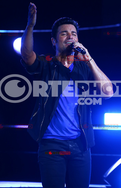 El cantante, bailarín y actor puertorriqueño Chayanne  , durante su concierto en el AVA Amphitheater de casino del Sol en Tucson Arizona , el 4 de septiembre 2015.<br /> <br /> CreditoFoto:LuisGutierrez