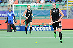 The Hague, Netherlands, June 08: Phil Burrows #18 of New Zealand looks to pass during the field hockey group match (Men - Group B) between the Black Sticks of New Zealand and Germany on June 8, 2014 during the World Cup 2014 at Kyocera Stadium in The Hague, Netherlands.  Final score 3-5 (1-3) (Photo by Dirk Markgraf / www.265-images.com) *** Local caption ***
