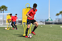 Lakewood Ranch, FL - Sunday Jan. 07, 2018: Jeremy Rafanello during an U-19 USMNT training session at Premier Sports Campus in Lakewood Ranch, FL.
