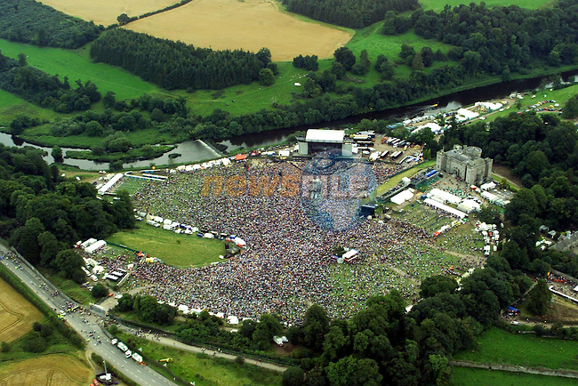The Ariel View of U2 Concert at Slane Concert..Picture from the Garda Air support Unit, Not To be sold reproduced, or used on Web Site...Pic Fran Caffrey Newsfile..Newsfile Ltd.The View.Millmount Abbey,.Drogheda,.Co Meath,.Ireland..Tel: +353(0)41-9871240.Fax: +353(0)41-9871260.ISDN: +353(0)41-9871010.email: newsfile@eircom.net.www.newsfile.ie..Mob 086-2500958.Mob 086-8144116