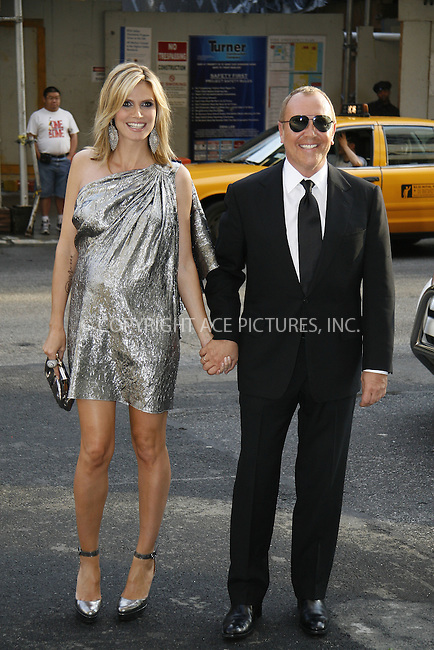 WWW.ACEPIXS.COM . . . . .  ....June 15 2009, New York City....Model and TV personality Heidi Klum and designer Michael Kors arriving at the 2009 CFDA Fashion Awards at Alice Tully Hall, Lincoln Center on June 15, 2009 in New York City.....Please byline: NANCY RIVERA- ACE PICTURES.... *** ***..Ace Pictures, Inc:  ..tel: (212) 243 8787 or (646) 769 0430..e-mail: info@acepixs.com..web: http://www.acepixs.com