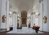 Europe/Allemagne/Bade-Würrtemberg/Heidelberg: Eglise des Jésuites -Jesuitenkirche- Baroque 18 e s- la nef