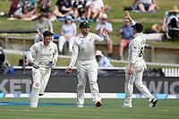 1st December 2019, Hamilton, New Zealand;  Ross Taylor catches out Ben Stokes. International test match cricket, New Zealand versus England at Seddon Park, Hamilton, New Zealand. Sunday 1 December 2019.