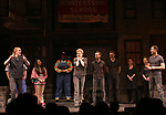 Original cast members Rick Lyon, Jennifer Barnhart and John Tartaglia with cast during the 'Avenue Q'  15th Anniversary Celebration matinee with Original Cast Members at the New World Stages on July 28, 2018 in New York City.