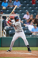 Brevard County Manatees third baseman Jose Cuas (1) at bat during a game against the Fort Myers Miracle on April 13, 2016 at Hammond Stadium in Fort Myers, Florida.  Fort Myers defeated Brevard County 3-0.  (Mike Janes/Four Seam Images)