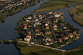 Kiev, Ukraine<br /> July 23, 2005 <br /> <br /> Koncha-Zaspa, area south of Kiev on the Dnieper River where many expensive dashas have been built, much of the money for these dasha's is coming from corruption.
