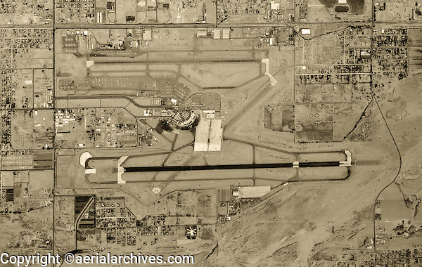 historical aerial photograph Phoenix Sky Harbor Airport, 1961