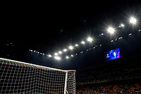 A football goal, the stadium lights and the cup viewed on the display <br /> Milano 19/02/2020 Stadio San Siro <br /> Football Champions League 2019/2020 <br /> Round of 16 1st leg <br /> Atalanta - Valencia <br /> Photo Andrea Staccioli / Insidefoto
