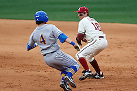 Tim Carver (18);March 10th, 2010; South Dakata State University vs Arkansas Razorbacks at Baum Stadium in Fayetteville Arkansas. Photo by: William Purnell/Four Seam Images