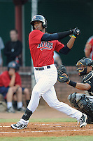 Elizabethton Twins right fielder Adam Walker #45 swings at a pitch during a game against the Bristol White Sox at Joe O'Brien Field on June 25, 2012 in Elizabethton, Tennessee. The Twins defeated the White Sox 9-1. (Tony Farlow/Four Seam Images).