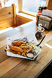USA, Alaska, Ketchikan, a serving of Fish & Chips at the Alaska Fishouse