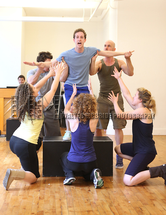 Alex Wyse.with the cast from 'Triassic Parq The Musical'  during a Sneak Peek Rehearsal at the CAP21 Studios in New York City on 5/30/2012. © Walter McBride/WM Photography / Retna Ltd.
