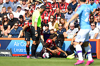 Injury concern for Nathan Ake of AFC Bournemouth during AFC Bournemouth vs Manchester City, Premier League Football at the Vitality Stadium on 25th August 2019