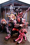 Various portraits & live photographs of the rock band,  GWAR.