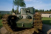 """- Normandy, sites of allied landing of June 1944, English tank """"Churchill"""" exposed in the museum of Bayeux....- Normandia, i luoghi degli sbarchi alleati del giugno 1944, carro armato inglese """"Churchill"""" esposto nel museo di Bayeux"""