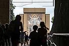 September 9, 2016; Notre Dame Stadium tunnel tour (Photo by Matt Cashore/University of Notre Dame)