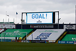 Goal celebration on the scoreboard. Stockport County v Barnet, 07032020. Edgeley Park, National League. Photo by Paul Thompson.
