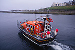 Grace Darling, the Seahouses lifeboat being launched, Northumberland England
