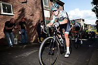 Picture by Alex Whitehead/SWpix.com - 14/05/2017 - Cycling - 2017 HSBC UK | Spring Cup Road Series - Lincoln Grand Prix - One Pro Cycling x climbs Michaelgate cobbles.