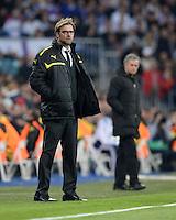 FUSSBALL  CHAMPIONS LEAGUE  HALBFINALE  RUECKSPIEL  2012/2013      Real Madrid - Borussia Dortmund                   30.04.2013 Trainer Juergen Klopp (Borussia Dortmund)