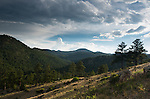 cloudy summer afternoon in the Rocky Mountain foothills above Glen Haven, Colorado, USA