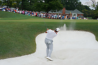 Gary Woodland (USA) hits out of a sand trap on the 4th hole during the final round of the 100th PGA Championship at Bellerive Country Club, St. Louis, Missouri, USA. 8/12/2018.<br /> Picture: Golffile.ie | Brian Spurlock<br /> <br /> All photo usage must carry mandatory copyright credit (&copy; Golffile | Brian Spurlock)