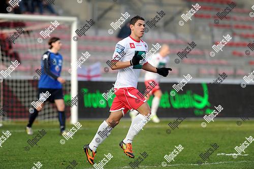 2013-02-17 / Voetbal / seizoen 2012-2013 / R. Antwerp FC - Boussu Dour / Jordan Faucher scoorde de 1-3 voor Antwerp..Foto: Mpics.be