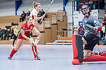 Mannheim, Germany, December 01: During the Bundesliga indoor women hockey match between Mannheimer HC and Nuernberger HTC on December 1, 2019 at Irma-Roechling-Halle in Mannheim, Germany. Final score 7-1. (Copyright Dirk Markgraf / 265-images.com) *** Isabella Schmidt #31 of Mannheimer HC