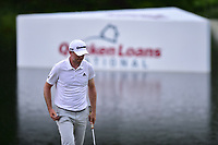 Bethesda, MD - July 2, 2017: Martin Laird sinks a putt on the seventeenth hole during final round of professional play at the Quicken Loans National Tournament at TPC Potomac at Avenel Farm in Bethesda, MD.  (Photo by Phillip Peters/Media Images International)