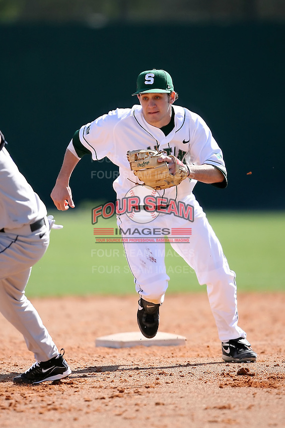 February 20, 2009:  A.J. Shindler (11) of Michigan State University during the Big East-Big Ten Challenge at Jack Russell Stadium in Clearwater, FL.  Photo by:  Mike Janes/Four Seam Images