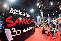 VALENCIA, SPAIN - NOVEMBER 7: Sanchis bikes stand during DOS RODES at Feria Valencia on November 7, 2015 in Valencia, Spain