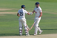 Ravi Bopara (R) and Nick Browne of Essex enjoy a century partnership during Essex CCC vs Warwickshire CCC, Specsavers County Championship Division 1 Cricket at The Cloudfm County Ground on 19th June 2017