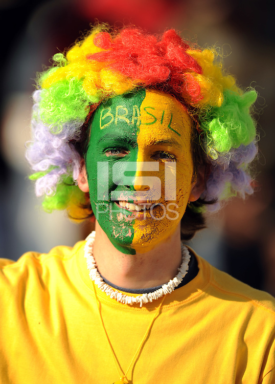 A Brazil fan. Brazil defeated USA 3-0 during the FIFA Confederations Cup at Loftus Versfeld Stadium in Tshwane/Pretoria, South Africa on June 18, 2009.