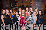 21 kisses<br /> ----------<br /> Laura Moloney,Killarney(front centre) had a super night celebrating her 21st birthday last Saturday in McSorley's,Killarney even after Kerry's eye photographer showed up too early as many many more were there to help her enjoy the night.
