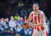 22nd March 2018, Aleksandar Nikolic Hall, Belgrade, Serbia; Turkish Airlines Euroleague Basketball, Crvena Zvezda mts Belgrade versus Fenerbahce Dogus Istanbul; Guard Taylor Rochestie of Crvena Zvezda mts Belgrade in action with the ball
