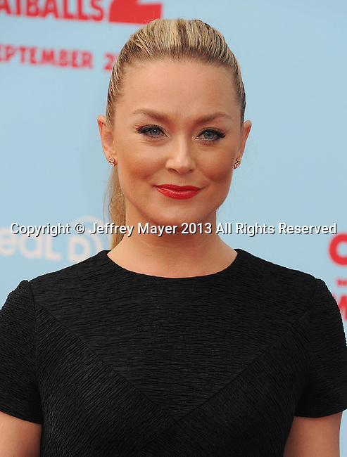 WESTWOOD, CA- SEPTEMBER 21: Actress Elisabeth Rohm arrives at the Los Angeles premiere of 'Cloudy With A Chance Of Meatballs 2' at the Regency Village Theatre on September 21, 2013 in Westwood, California.
