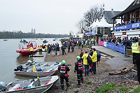 Greater London. United Kingdom, General View the Beach area.  Women's  University Boat Race , Cambridge University vs Cambridge University Putney to Mortlake,  Championship Course, River Thames, London. <br /> <br /> Saturday  24.03.18<br /> <br /> [Mandatory Credit:Peter SPURRIER/Intersport Images]